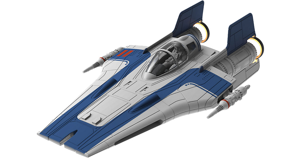Revell Modellbausatz Build & Play - Star Wars Resistance A-wing Fighter, blau