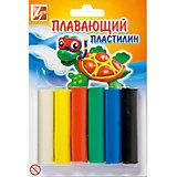 ЛУЧ Пластилин плавающий, 6цветов