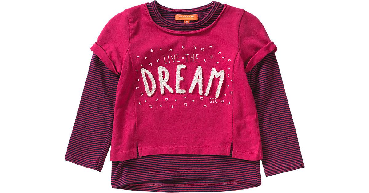 STACCATO · Langarmshirt 2-in1 Gr. 128/134 Mädchen Kinder