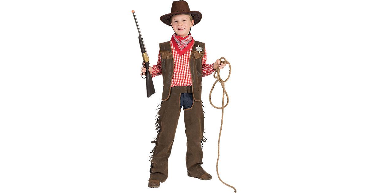 Kostüm Wild-West-Set, 3-tlg. braun Gr. 128 Jungen Kinder