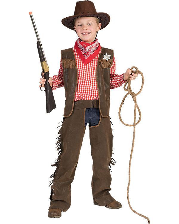Cowboy Kostüm Jungen Verkleidung Karneval Fasching Gaucho Revolverheld Sheriff