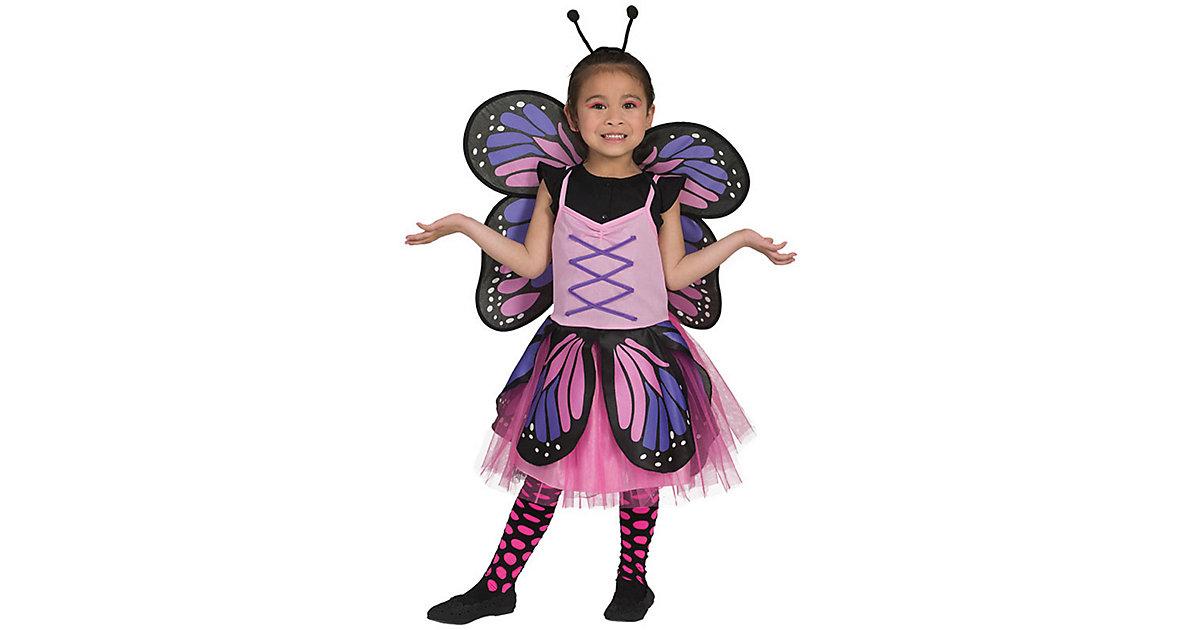 Kostüm Schmetterling pink rosa/lila Gr. 134/152 Mädchen Kinder