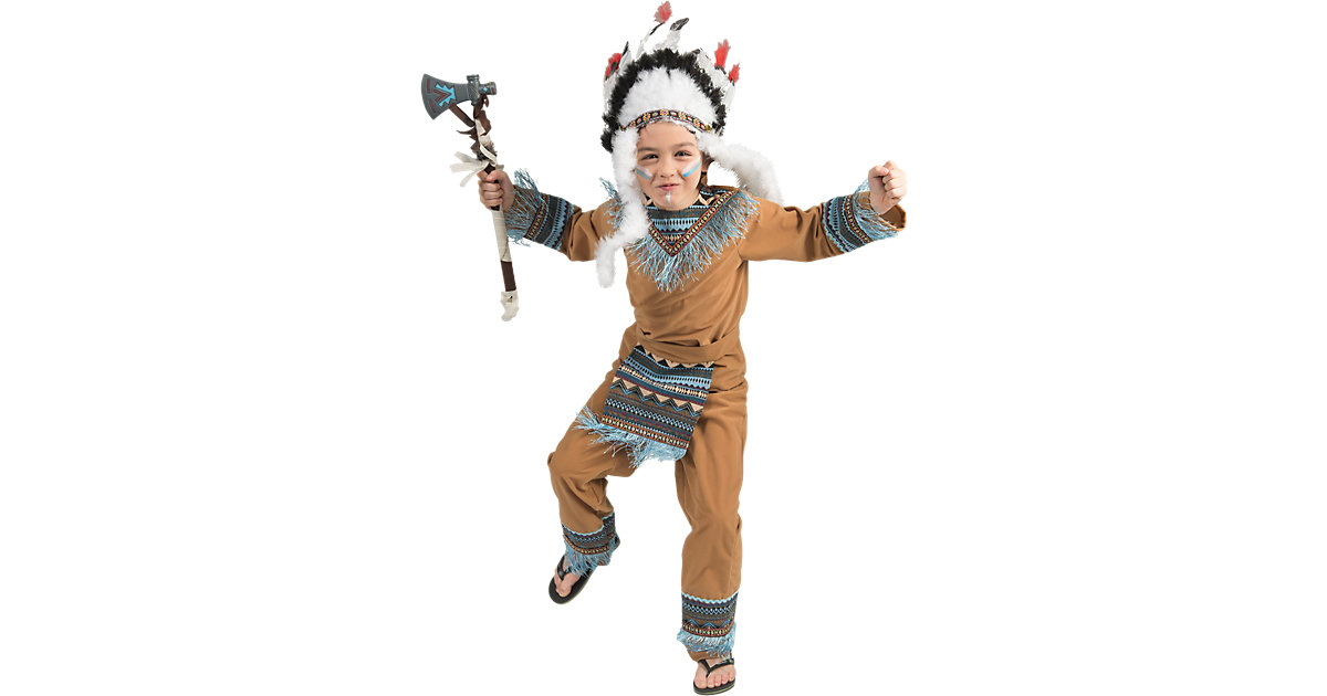 Kostüm Indianer Boy Wild Wigwam, 3-tlg. Gr. 128 Jungen Kinder