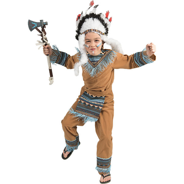 kost m indianer boy wild wigwam 4 tlg funny fashion mytoys. Black Bedroom Furniture Sets. Home Design Ideas
