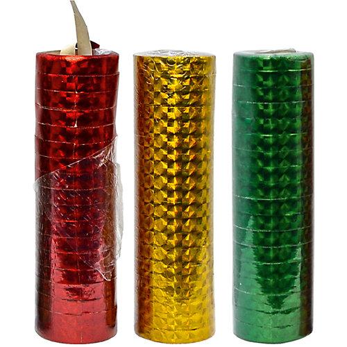 Набор серпантина к празднику, голографический, 3 шт, 0,7*300 см от ACTION!