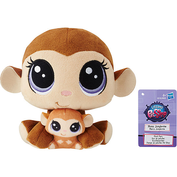 "Мягкая игрушка Littlest Pet Shop ""Плюшевые парочки"" Mona Junglevine и Merry Junglevine , 16 см"