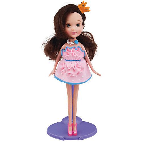Набор для лепки с куклой Fashion Dough, Шатенка в розовом сарафане от TOY TARGET