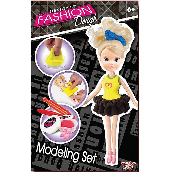 Набор для лепки с куклой Fashion Dough, Блондинка в черной юбке