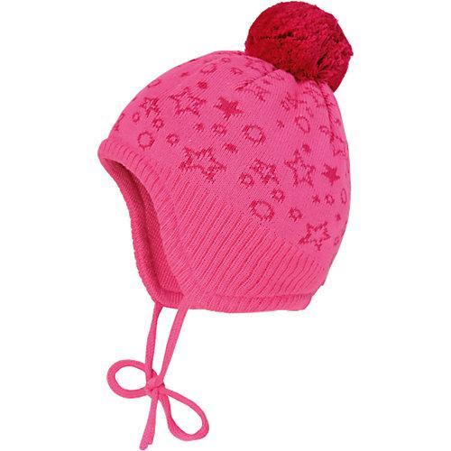 MaxiMo Baby Bommelmütze zum Binden Gr. 47 Mädchen - broschei