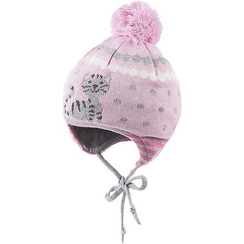 MaxiMo Baby Bommelmütze zum Binden Gr. 47-49 Mädchen Kinder - broschei