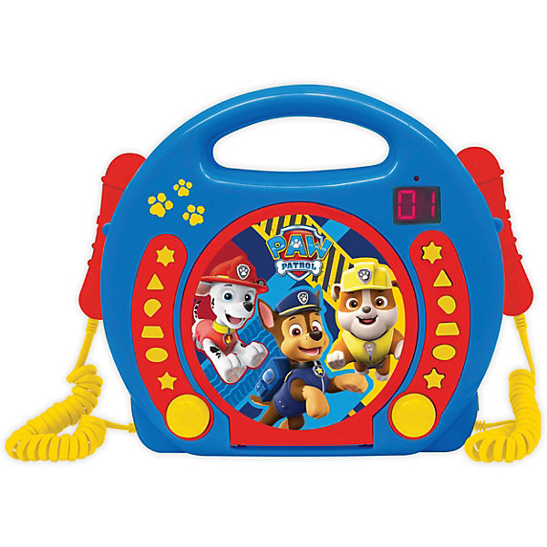 Paw Patrol Kinder CD-Player mit 2 Mikrofonen