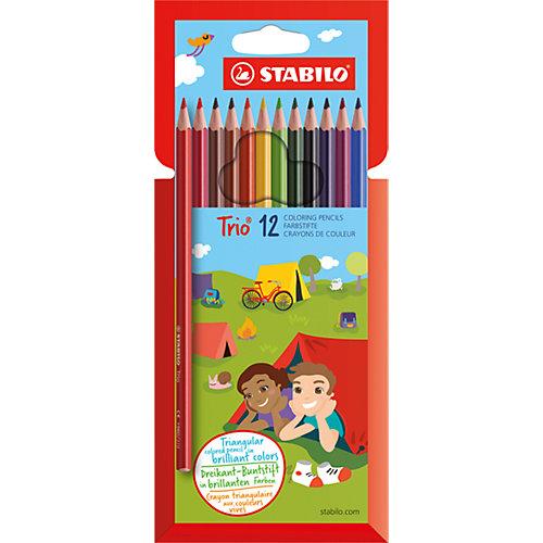 Карандаши цветные 12цв TRIO от STABILO