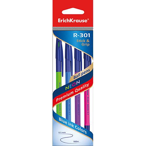 Ручка шариковая Stick&Grip R-301 NEON 0,7мм, 40 цвета от Erich Krause