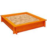 """Деревянная песочница """"Афина"""", оранжевая, PAREMO"""