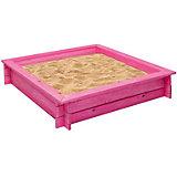 """Деревянная песочница """"Афродита"""", розовая, PAREMO"""