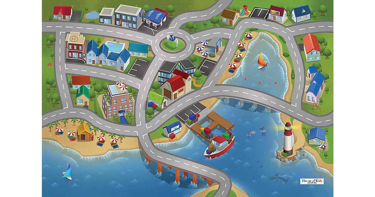 Spielteppich Stadthafen, 80x120 cm blau Gr. 80 x 120