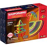 Магнитный конструктор 701012 Curve 50 set, MAGFORMERS