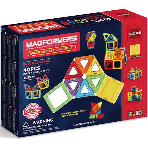 Магнитный конструктор 715002 Window Plus Set 40 set, MAGFORMERS от MAGFORMERS