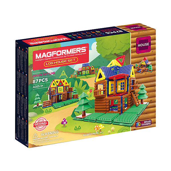 Магнитный конструктор 705004 Log House Set, MAGFORMERS