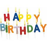 """Свечи для торта """"Happy Birthday"""", 15 шт"""