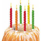 """Свечи для торта """"Twister"""", 6 шт, блистер"""