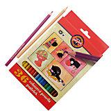 KOH-I-NOOR Набор карандашей цветных КОШКИ+СОБАКИ, 36 цв