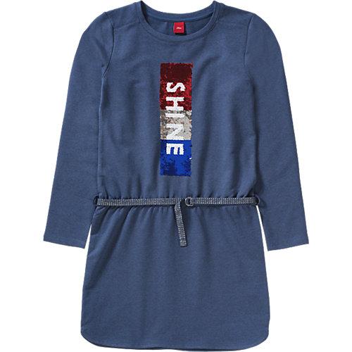 S.Oliver,s.Oliver Kinder Jerseykleid mit Pailletten Gr. 176 Mädchen Kinder   04055268144986