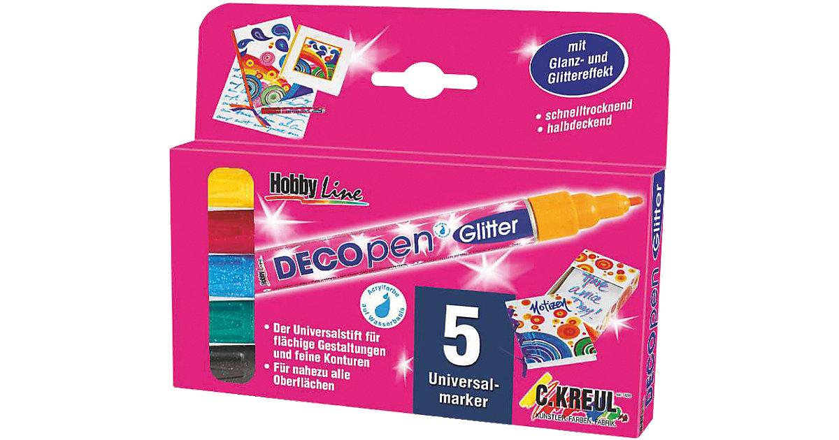 DECO-Pen Glitter, 5er-Set