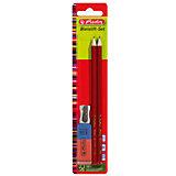 Herlitz Набор: 2 карандаша, точилка,ластик