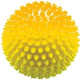 Мяч ёжик желтый, 6,5 см, МалышОК