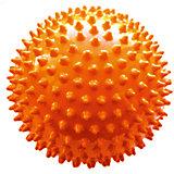 Мяч ёжик оранжевый, 6,5 см, МалышОК
