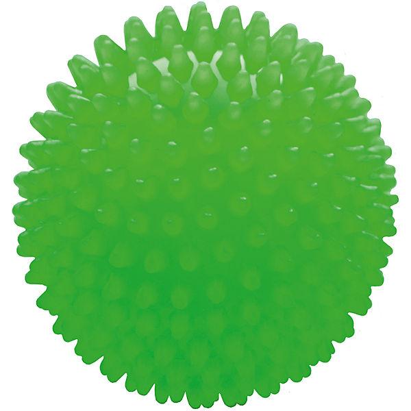 Мяч ёжик зеленый, 8,5 см, МалышОК