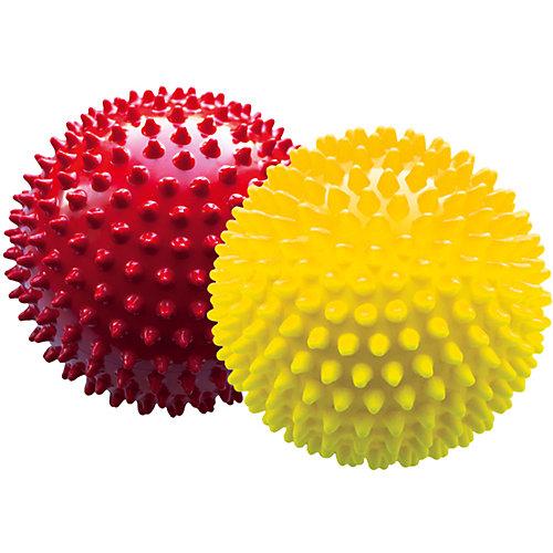 Набор мячей ёжиков, красный и желтый, 12 см, МалышОК от Малышок
