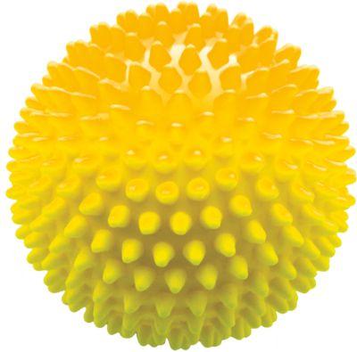 Мяч ёжик желтый, 18 см, МалышОК