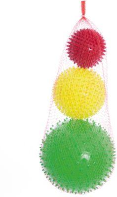 """Набор мячей ёжиков """"Светофор"""", 8,5 см, 12 см, 18 см, МалышОК"""