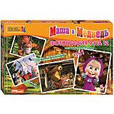 """Настольная игра """"Фотография 9 на 12"""", Маша и Медведь, Step Puzzle"""