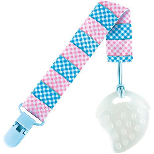Держатель для пустышки от 0 мес., Roxy-Kids, голубой/розовый от Roxy-Kids