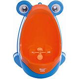 Писсуар с прицелом Лягушка, Roxy-kids, оранжево-голубой