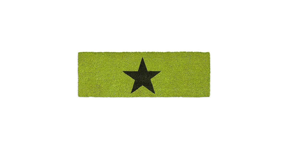 Fußmatte schmal STERN grün