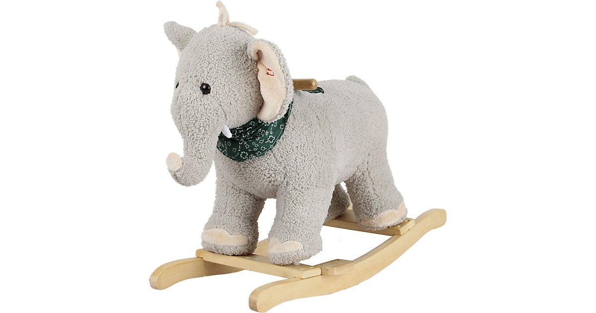 Sweety Toys Schaukeltier Elefant grau mit Halstuch mit Lullaby Musik