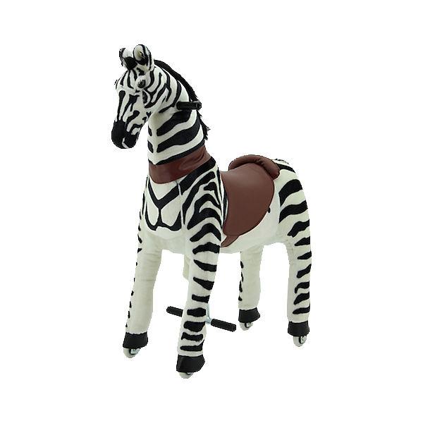 Sweety Toys Reittier Zebra auf Rollen, groß,