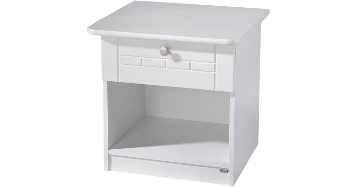 Nachttisch Dreamworld 3 weiß | Schlafzimmer > Nachttische | Weiß | Holz | Roba