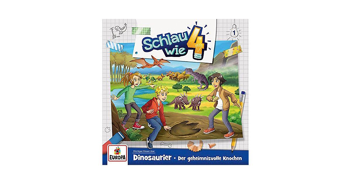 CD Schlau wie Vier 01 - Dinosaurier: Der geheimnisvolle Knochen Hörbuch