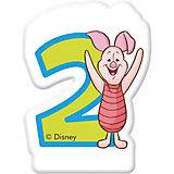 "Свечка для торта ""Цифра 2"", Disney Винни Пух"