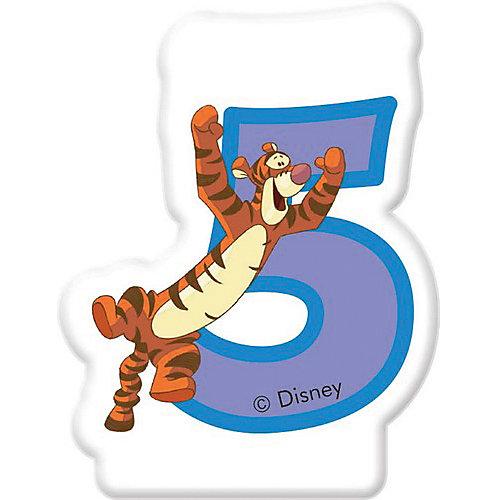 """Свечка для торта """"Цифра 5"""" Тигруля, Disney Винни Пух от Procos"""