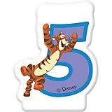 "Свечка для торта ""Цифра 5"" Тигруля, Disney Винни Пух"
