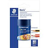 Точилка пластиковая Staedtler «Noris», 2 отверстия, с контейнером, круглая