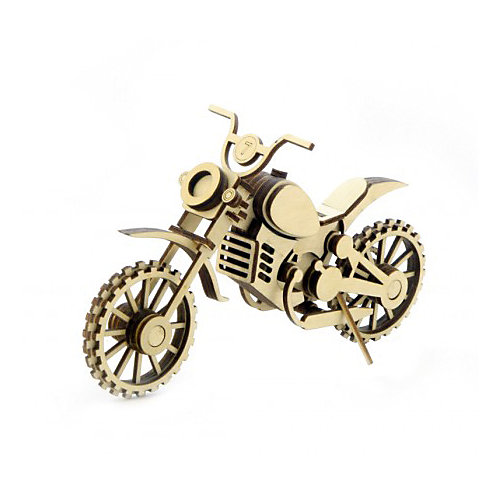 """Деревянный  3D конструктор подвижный """"Мотоцикл Кросс"""", Lemmo от Lemmo"""