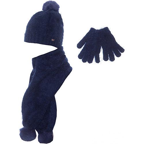 Комплект Mayoral: шапка, шарф и перчатки - темно-синий от Mayoral