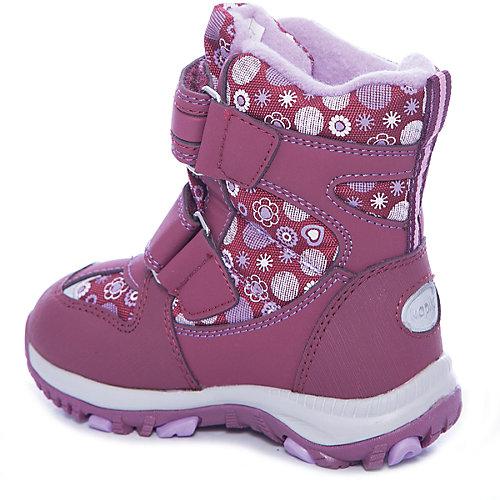 Утепленные ботинки Kapika - бордовый от Kapika